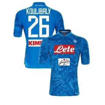 1819年度 Naples サッカーユニフォーム SSCナポリ ホーム ブルー 半袖 No.26 メンズ レプリカ 半袖 L