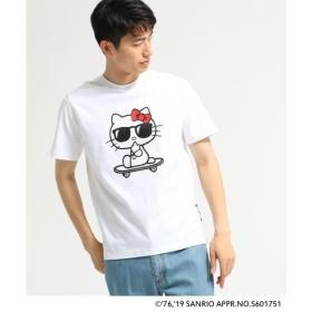 BASE STATION / ベースステーション ハローキティ Hello Kitty 別注 サングラスプリント 半袖 Tシャツ