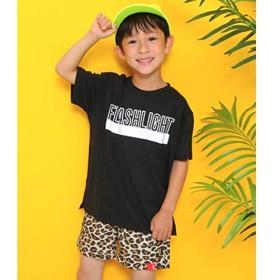 アナップキッズ&ガール(ANAP KIDS&GIRL) ロゴプリントビッグTシャツ【ブラック/130】
