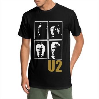 U2 Joshua Tree メンズ ティーシャツ 夏 半袖 吸汗 速乾 個性デザイン おしゃれ プリント 丸首 Tシャツ