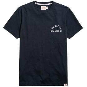 Brooks Brothers(ブルックス ブラザーズ) Red Fleece コットンジャージー NEW YORK グラフィックTシャツ 32718071 ネイビー XS
