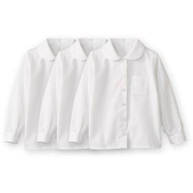 形態安定。丸衿。長袖スクールブラウス3枚組(女の子) 制服