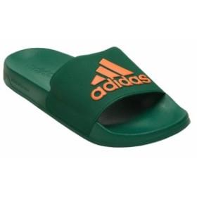 アディダス adidas メンズ サンダル シューズ・靴 Adilette Shower Slide Dark Green/Oragne/Dark Green