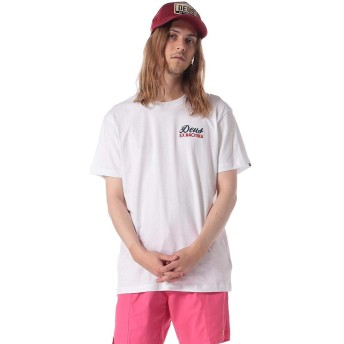 (デウスエクスマキナ) Deus Ex Machina 綿100% バックロゴ クルーネック 半袖 Tシャツ ホワイト/S