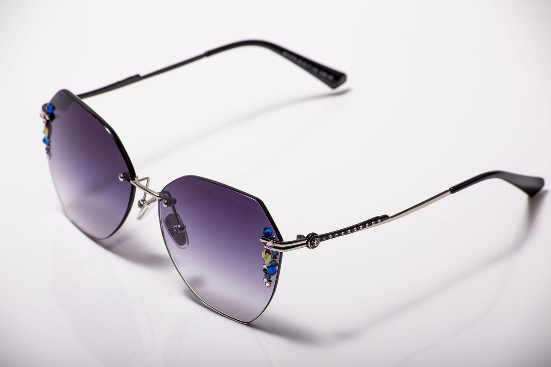 訂製手工水鑽款 韓國水晶無邊框太陽眼鏡 /兩種款式 採用施華洛世奇元素2