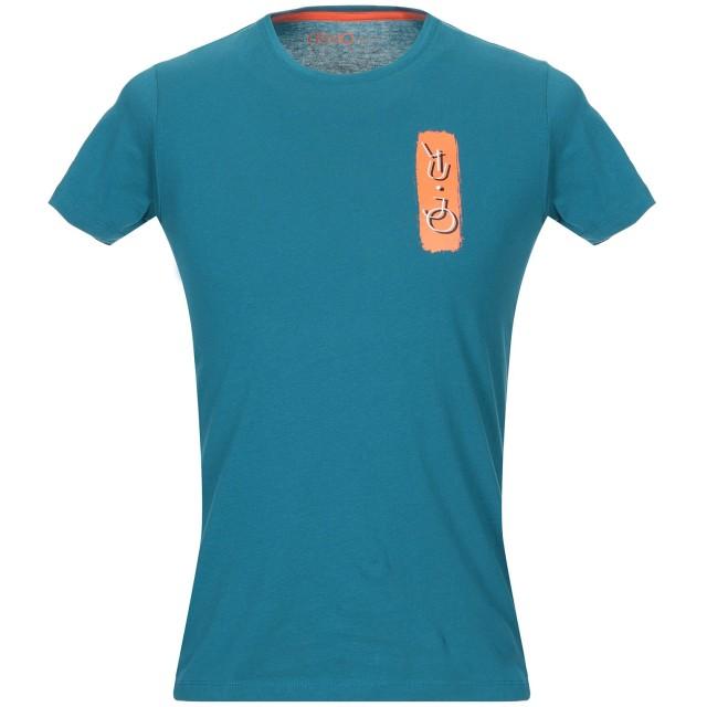 《期間限定セール開催中!》LIU JO MAN メンズ T シャツ ディープジェード XL コットン 100%