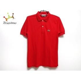 ラコステ Lacoste 半袖ポロシャツ サイズ2 M メンズ 新品同様 レッド×グリーン×マルチ 新着 20190726