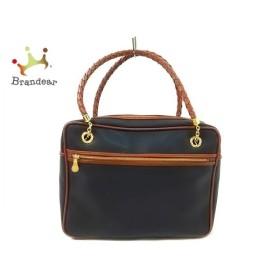 ボッテガヴェネタ BOTTEGA VENETA ハンドバッグ - - 黒×ブラウン ハンドル取り外し可 新着 20190726