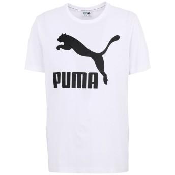 《期間限定セール開催中!》PUMA メンズ T シャツ ホワイト S コットン 100% Classics Logo Tee Peacoat
