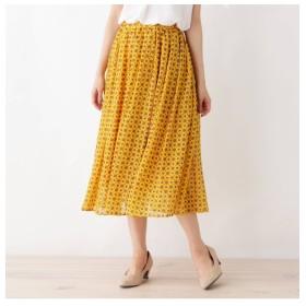 【シューラルー/SHOO・LA・RUE】 シフォンギャザースカート