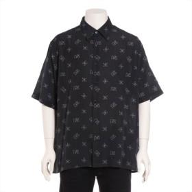 フェンディ リヨセル シャツ サイズ43 メンズ ブラック 18SS ロゴ