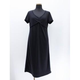 【中古】ホコモモラ JOCOMOMOLA ジャージ素材 ドレス ワンピース ロング 黒 ブラック 40 (M) レディース