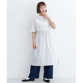 メルロー ドローストリングシャツワンピース レディース オフホワイト FREE 【merlot】