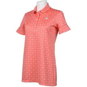 マンシングウェア ゴルフウェア ポロシャツ 半袖 ドット柄チュニック丈半袖シャツ MGWNJA01 PK00 M