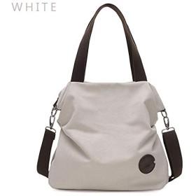 2019大ポケットカジュアルトートレディースハンドバッグショルダーハンドバッグキャンバスレザー容量バッグ用女性