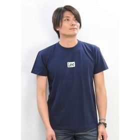 [リー] BOX LOGO Tシャツ ボックスロゴ半袖Tシャツ LT2550 メンズ L ネイビー(104)