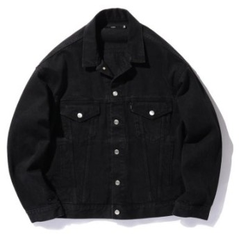 (BEAMS MEN/ビームス メン)VAPORIZE/Used Denim Jacket/メンズ BLACK 送料無料