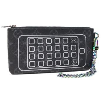 中古 LOUIS VUITTON ルイヴィトン iphoneポーチ モノグラムエクリプス M64433