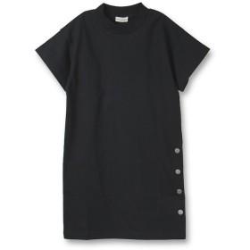 ブランシェス サイドボタン5分袖ワンピース(90~150cm) レディース ブラック 90cm 【branshes】