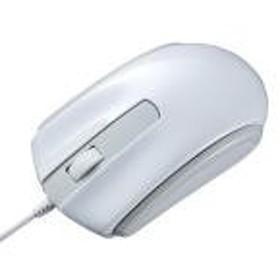【新品/取寄品/代引不可】有線Type-CブルーLEDマウス ホワイト MA-BLC158W