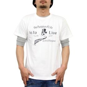 (コンフューズ)CONFUSE tシャツ メンズ 大きいサイズ ティシャツ 半袖Tシャツ スカル ドクロ 柄 ブランド ロゴ プリント cfst2903 (XL, WHITE)
