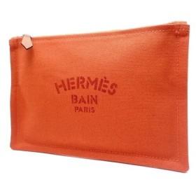 HERMES(エルメス) フラットポーチ・ヨッティングPM バッグインバッグ キャンバス オレンジ 102499M 81100015643 【中古】【アラモード】
