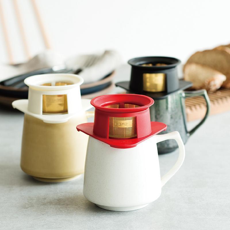 單人黃金濾杯組 (單人濾杯+KIKI馬克杯) 單人濾杯 (紅) + 馬克杯 (黃)