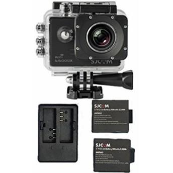 正規品 SJ5000X ELITEバッテリ 3個付き(バッテリーケース付き) 2個同時充電器セット sj5000 シリーズ アクションカメラ SONY製...