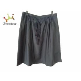 マッキントッシュフィロソフィー スカート サイズ40 L レディース 黒 リボン 新着 20190727