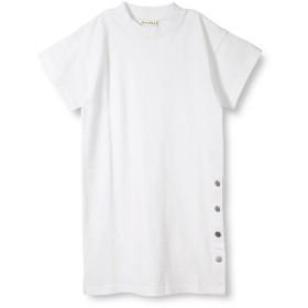 ブランシェス サイドボタン5分袖ワンピース(90~150cm) レディース オフホワイト 120cm 【branshes】