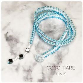 bijou code wrap bracelet - lagoon blue- 【金属アレルギー対応】受注制作