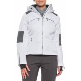 カーボン Karbon レディース アウター スキー・スノーボード Pascal Ski Jacket - Waterproof, Insulated White/Grey