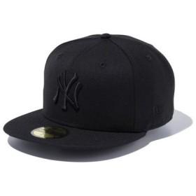 ニューエラ(NEW ERA) 59FIFTY MLB ニューヨーク・ヤンキース キャップ ブラック×ブラック 11308579 (Men's、Lady's)