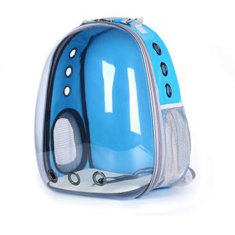パノラマ透明スペースカプセルバックパックペットトートダブルショルダーバッグペットバックパック屋外旅行防水ポータブル透明通気性猫と犬のバックパック