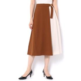 【テチチ/Te chichi】 麻調ツイル配スカート