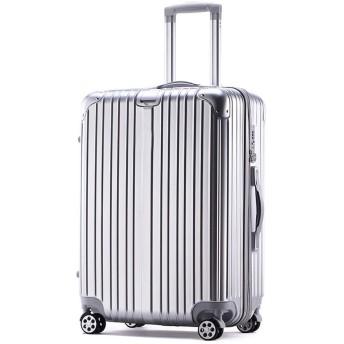 TOGAKU スーツケース キャリーケース キャリーバッグ ファスナー 軽量 半鏡面 ヘアライン仕上げ ジッパー 機内持ち込みサイズから 傷が目立ちにくい TSAロック 2年保証 (シルバー, SSサイズ/国内線機内持ち込み)