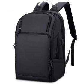 Lannsyne リュックサック バックパック メンズ 大容量 15.6インチPC A4対応 防水 通勤 通学 1泊出張 旅行 ブラック