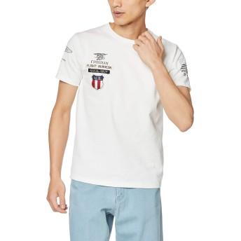 [アヴィレックス] Tシャツ NAVAL UNIT WAPPEN TEE 6193404 メンズ 01WHITE 日本 M (日本サイズM相当)