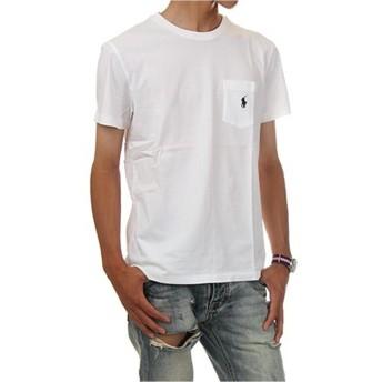 (ポロ ラルフローレン) POLO RALPH LAUREN/Pocket Short Sleeve Tee ポケット ワンポイント ベーシック 半袖Tシャツ ポケT (XS, ホワイト) [並行輸入品]