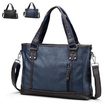 メンズ ハンドバッグ トートバッグ ショルダー レザー ビジネス ブリーフケース フォーマル 高級 PC収納 鞄 カバン