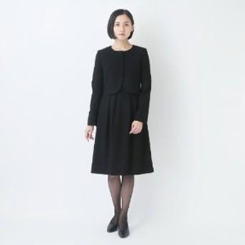【52%OFF】ノーカラーブラックフォーマルアンサンブルスーツ【喪服・礼服】
