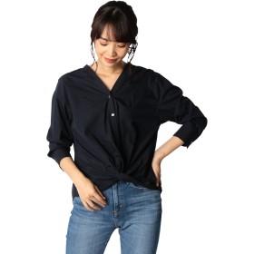 (ノーリーズ) NOLLEY'S ツイストドレープシャツ 8-0035-5-01-008 38 ネイビー