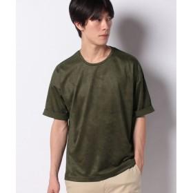 コムサイズム フェイクスエード Tビッグシャツ メンズ カーキ M 【COMME CA ISM】