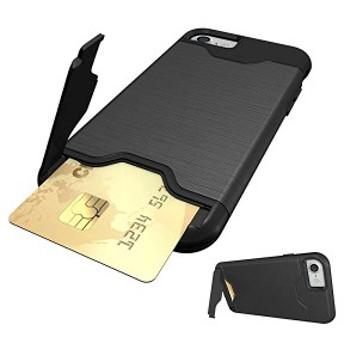 iPhone8 ケース iPhone7ケース icカード収納 スタンド付き 耐衝撃 スマホケース アイフォン8/アイフォン7 背面カバー 4.7インチ(...