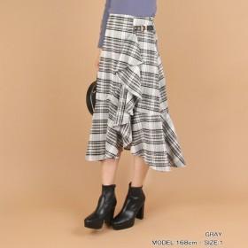 [マルイ] ◆19秋冬新作◆大柄チェックフレアスカート/ランダ(RANDA)