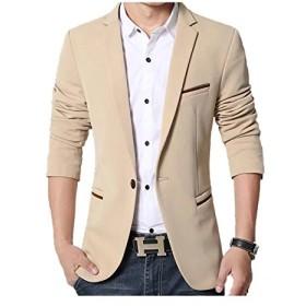 JapHot メンズ スーツ ジャケット 1つボタン サマージャケット 最新 トレンド ビジネス・パーティー スーツ生地 大人気スーツ ジャケット フォーマル 多色 無地 通勤 通学 紳士 上品 スリム 長袖 春夏秋冬 大きいサイズ