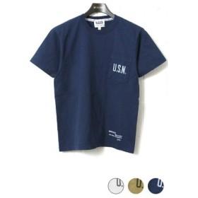 フェローズ Pherrow's 半袖 プリント ポケット Tシャツ [U.S.N.] 16S-PPT2