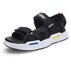 [HUIFANGFLIPFIOP] メンズサンダルシューズ夏のスポーツサンダル増加カジュアルシューズファッション通気性滑り止めビーチシューズ38-44 (Color : B, Size : 42)