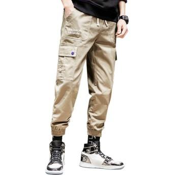 Pampera(パムペラ) カーゴパンツ メンズ ロングパンツ おしゃれ ファッション テーパード ワークパンツ カジュアル ズボン P940 (3XL, B•カーキ)