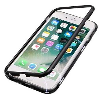 iphone8plus/iphone7plus ケース クリア 背面 強化ガラス カバー 人気 オシャレ アイフォン7プラス/アイフォン8プラス スマホケ ...